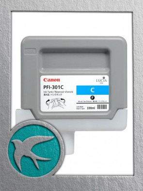 Canon PFI-301C Cyan Ink 330ml (1487B001AA)