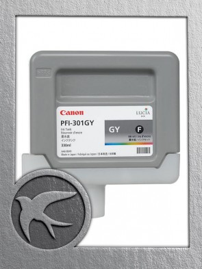 Canon PFI-301GY Grey Ink 330ml (1495B001AA)