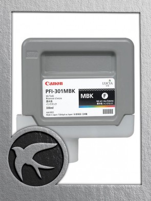 Canon PFI-301MBK Matte Black Ink 330ml (1485B001AA)